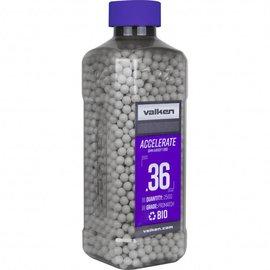 valken Accelerate Airsoft BBs - 0.36G Bio-2500CT-White
