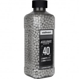 valken Valken Accelerate Airsoft BBs - 0.40G 2500CT-White