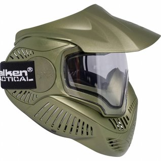 valken Valken Paintball MI-7 Goggle/Mask with Dual Pane Thermal Lens - Olive Green