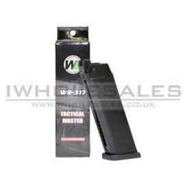 WE WE 17/18 Series Series Gas Magazine (25 Rounds - ABS - Black)