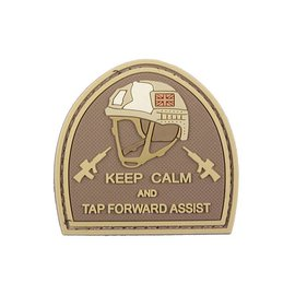 GFCTactical 3D Patch – Keep Calm And Tap Forvard Assist - tan