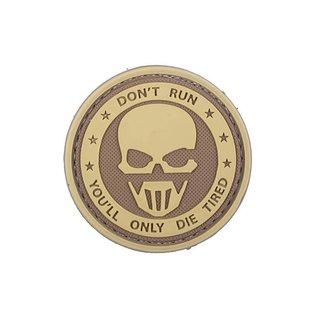 GFG [GFT-30-006384] 3D Patch – Don't Run - Ghost - TAN
