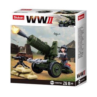 Sluban Sluban - B0678A (WWII Anti Aircraft Gun)