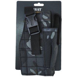 Kombat Molle Gun Holster with Mag Pouch - BTP Black