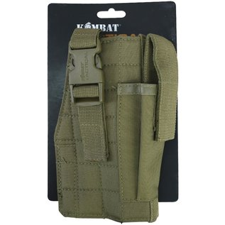 Kombat Molle Gun Holster with Mag Pouch - Coyote