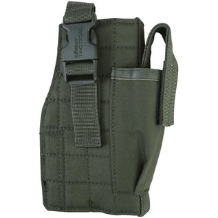 Kombat Molle Gun Holster with Mag Pouch - Olive Green