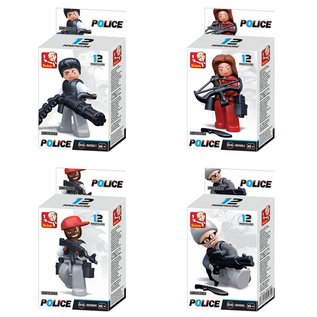 Kombat Sluban - B0586  Cops & Robbers Mini Figures