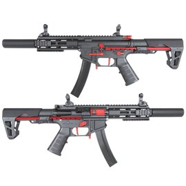 KING ARMS KING ARMS PDW 9MM SBR SD - BLACK & RED