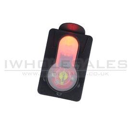FMA FMA S-Lite Card Button (Strobe Red Light - Black - TB982)