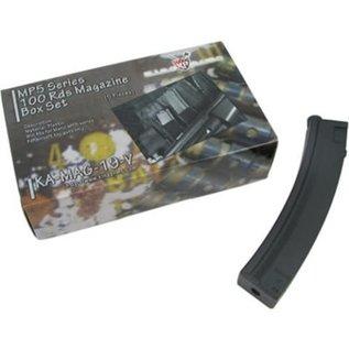 KING ARMS King Arms MP5 100 Rounds Magazines Box Set (5pcs)