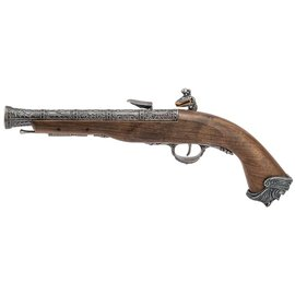 HFC HFC Pirate Flintlock Gas Pistol (18th Century - HG-502BN - Silver)