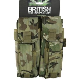 Kombat Double Mag Pouch with PISTOL Mag - BTP