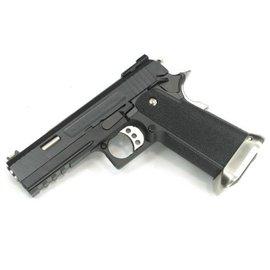 WE WE Hi-Capa Force 4.3 GBB Pistol 'Ruled' (Black)