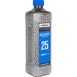 valken Accelerate Airsoft BBs - 0.25G-5000CT-White