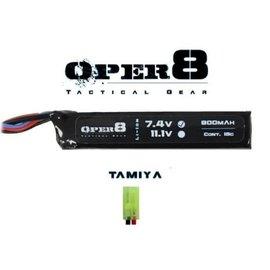 Oper8 Oper8 7.4V 900MAH Mini Lipo - Tamiya