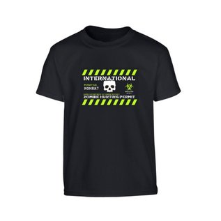 Kombat Kids Zombie Hunting Permit T-shirt
