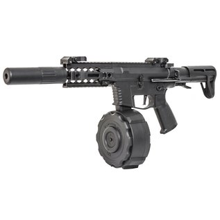 Classic Army Classic Army PX9 X9 AEG SMG (With Drum Magazine and Silencer - ENF010P-1)