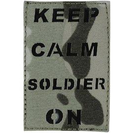 Kombat Laser Cut Keep Calm Soldier On Patch - BTP