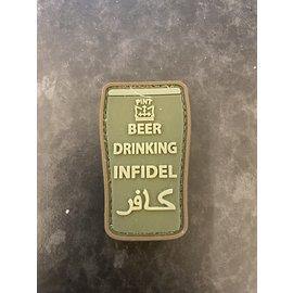 Kombat Beer Drinking INFIDEL Patch