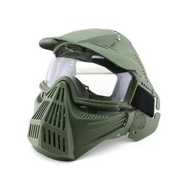BigFoot Big Foot Tactical Full Face Protection with Nylon Eye Protection (Re-Enforced) (OD)