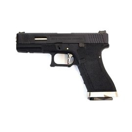 WE WE E Force EU17 Pistol BK (Black Slide and Silver Barrel )