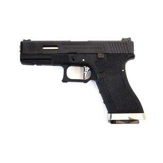 WE WE E Force EU17 Pistol BK (Black Slide and Silver Barrel )