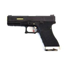 WE WE E Force EU17 Pistol BK (Black Slide and Gold Barrel)