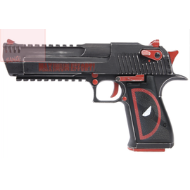 Custom Magnum Research Inc. Custom Magnum Research Inc. Desert Eagle 50AE GBBP (CG-DE0202 - Licensed by Cybergun - Made by WE - Black/Red)