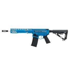 EMG Arms/SAI EMG F1 Firearms SBR AEG Rifle with RS-3 Stock (Silver Edge Gearbox/eSE Electronic Trigger - Blue - eSBR-BLS-3)
