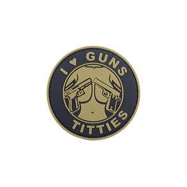 GFCTactical 3D Patch - I Love Guns Titties - Tan