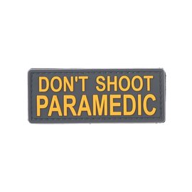 GFCTactical DON'T SHOOT PARAMEDIC - 3D Patch - Yellow