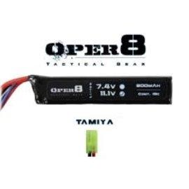 Oper8 Oper8 11.V 900MAH Mini Lipo - Mini Tamiya by Oper8 Tactical