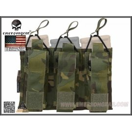 Emerson Gear Emerson 5.56 and Pistol Triple Open Top Magazine Pouch - Multicam Tropic