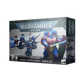 Games Workshop Space Marines Assault Intercessors and Paint Set