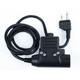 Wadsn U94 Headset PTT for Kenwood 2 Pin Radio