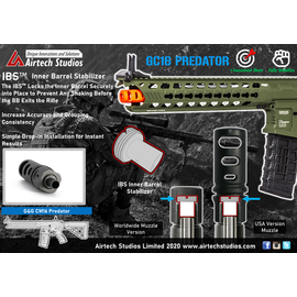 Airtech Studios G&G CM16 GC16 Predator IBS™ Inner Barrel Stabilizer