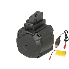 Battleaxe AK Electric Drum Magazine (Electric Winding- Black - Includes Battery and Charger)