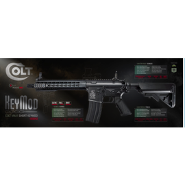 Cybergun Colt M4 CQBR metal AEG short handguard Keymod