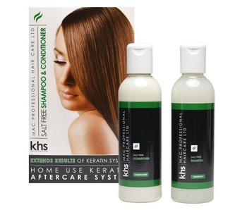 KHS Keratin Home System Salt Free Shampoo & Conditioner Groen
