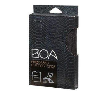 Sibel Kapmantel Boa Zwart met drukknopen
