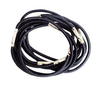 Efalock Haar Elastiekjes 45mm Zwart 10 stuks