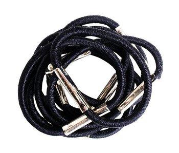 Efalock Haar Elastiekjes 25mm zwart 6 stuks