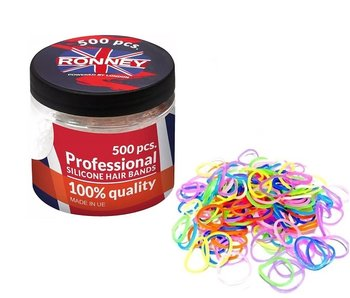 RONNEY Siliconen Hair Bands Color 500 Stuks
