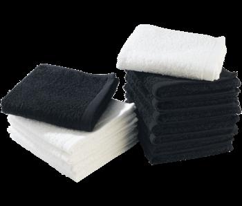 Sibel Bob Tuo Barber Handdoek  MINI  Zwart 45x28 cm  - 12 Stuks