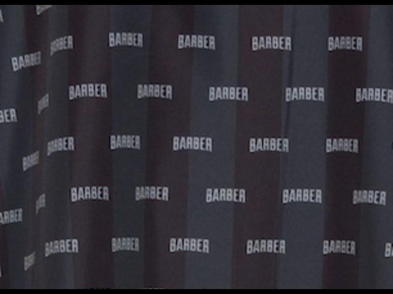 BARBER Cutting Cape Mini Barber Logo's