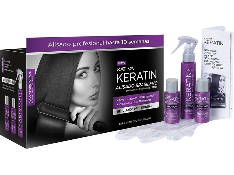 Kativa Keratin Brazilian Hair Straightening Xpress Kit
