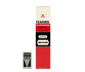 Feather Double Edge Blades 20 x 5 stuks Rood