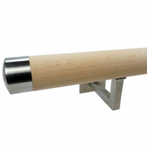 Handlauf Buche rund Modell 11 - Runde Treppengeländer - Treppenhandlauf aus unbehandeltem Buchenholz