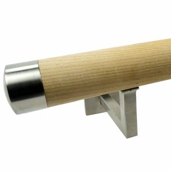 Handlauf Eiche rund Modell 11 - Runde Treppengeländer - Treppenhandlauf aus unbehandeltem Eichenholz - Copy