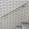 Handlauf Edelstahl rund gebürstet Modell 3 - für draussen  - Runde Edelstahl Treppengeländer - Treppenhandlauf draußen - Outdoor